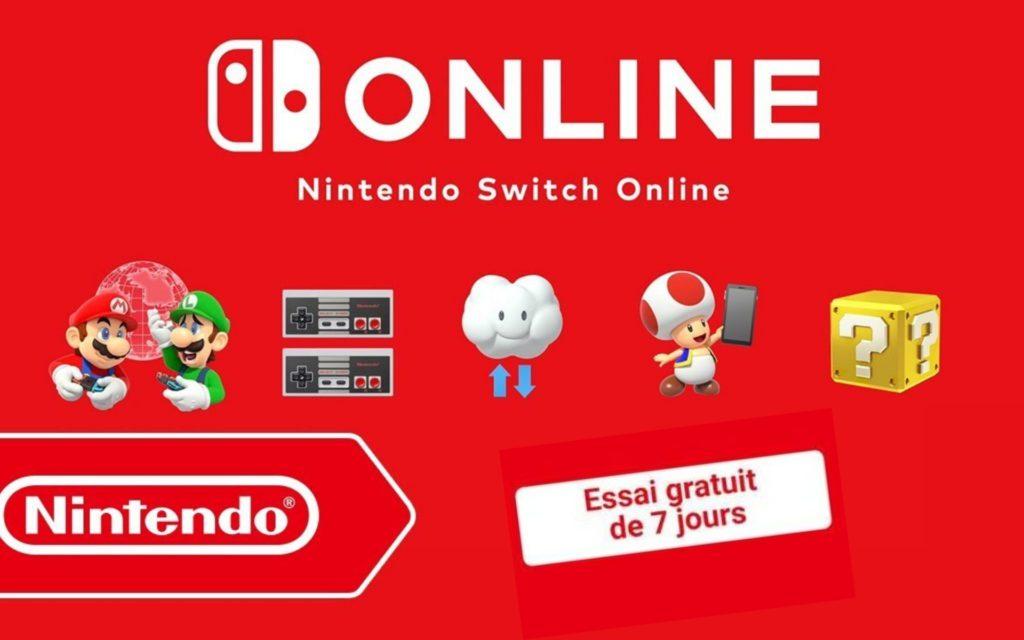 gratuit abonnement Nintendo Switch Online