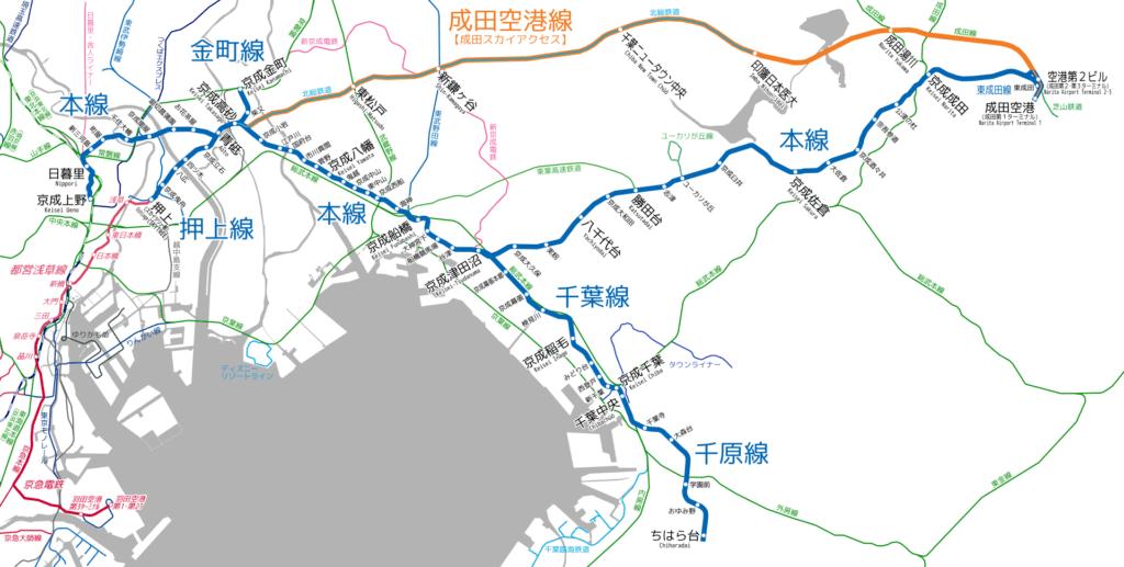 Rejoindre Tokyo avec la Keisei