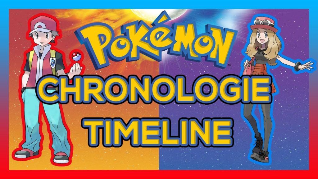 timeline jeux Pokémon