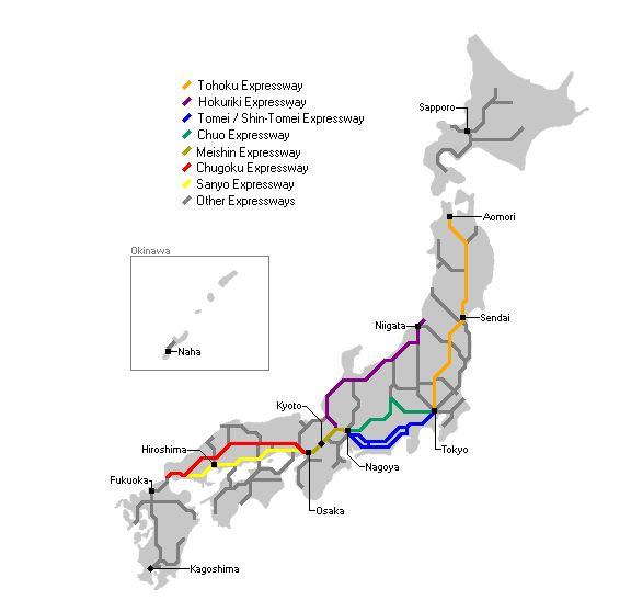 Pass voies express régionales japonaises