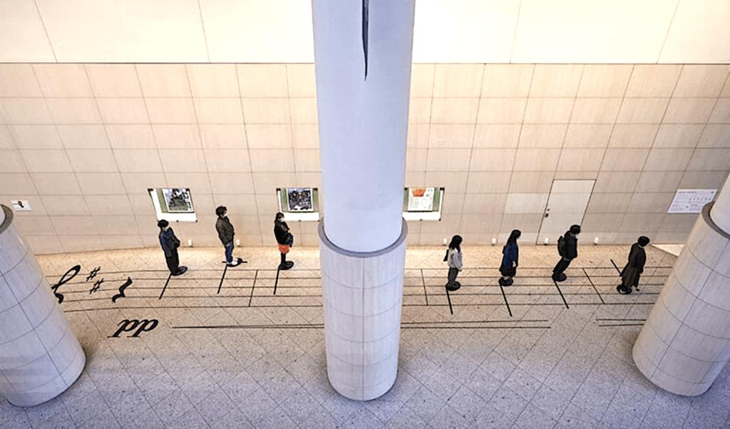 """installation artistique japonaise permet de jouer la """"Gymnopédie n° 1"""" d'Erik Satie"""