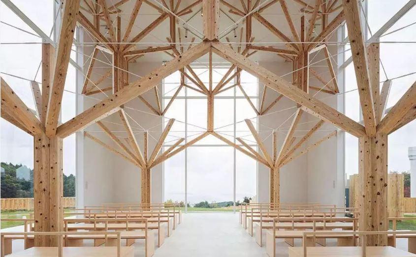 Menuiserie traditionnelle japonaise chapelle