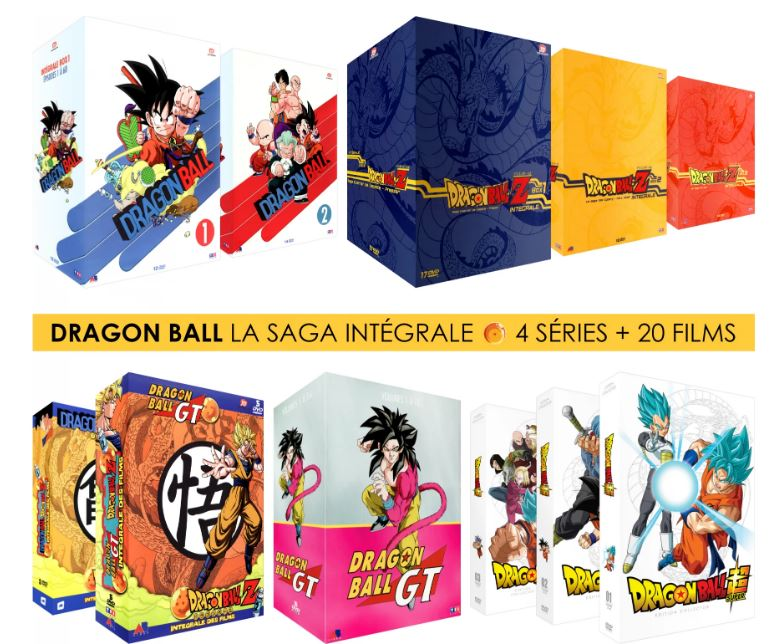 Pack DVD Collector : Dragon Ball Z, Dragon Ball, Dragon Ball GT, Dragon Ball Super, 20 Films & OAV