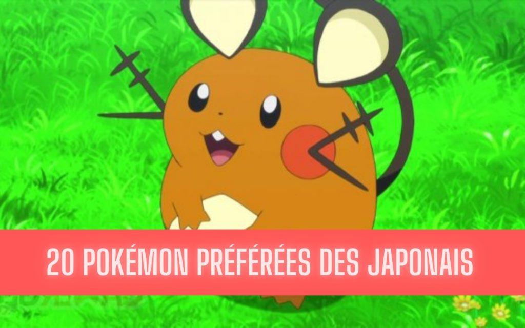 pokémon préférés des japonais