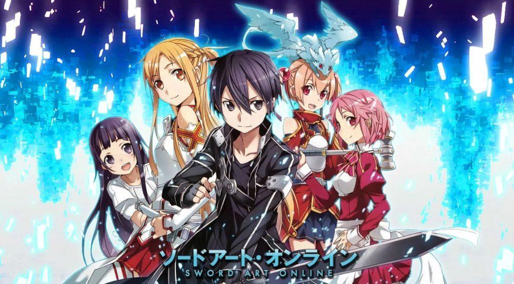 hronologie de la franchise Sword Art Online anime, jeux vidéo, arcs SAO