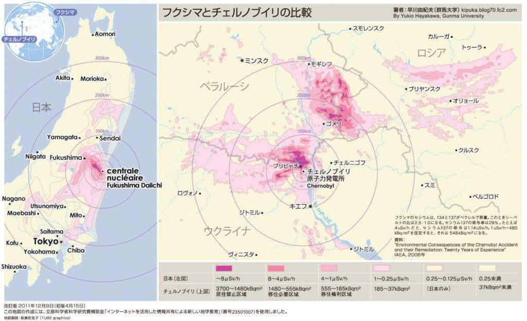 comparaison taille fukushima tchernobyl