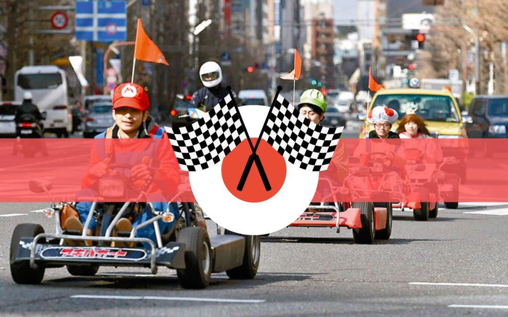Faire du Mario-Kart réel au Japon