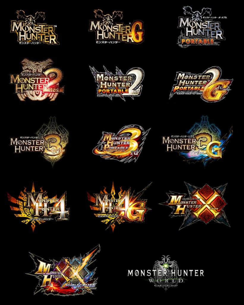 monster hunter logos