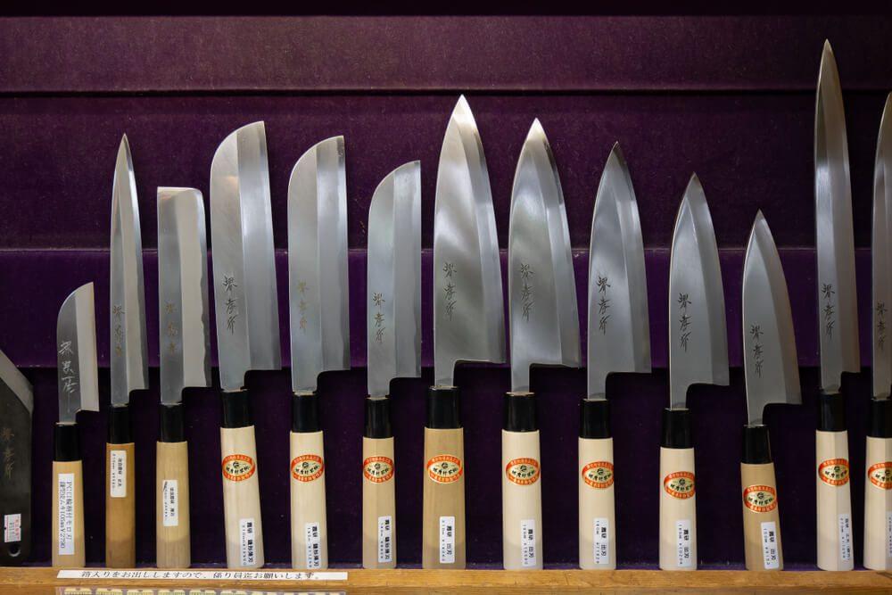 Tous les types de couteaux japonais et leurs utilisations
