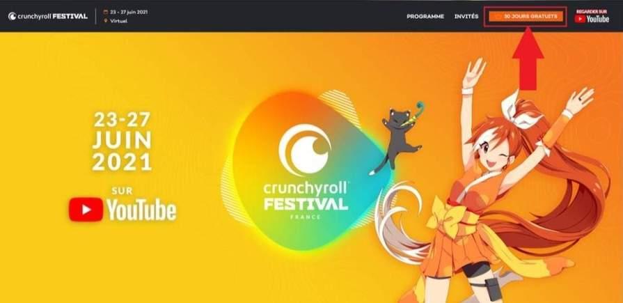 Crunchyroll gratuit en Premium pendant 30 jours