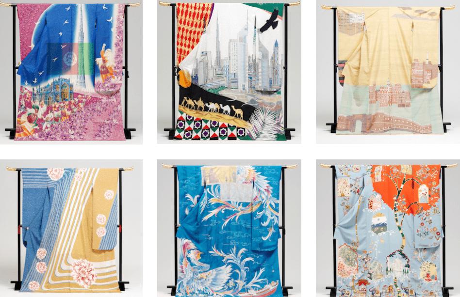 200 Kimono représentent les nations des Jeux olympiques de Tokyo