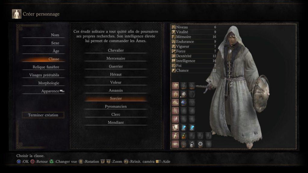 Dark Souls 3 meilleures classes de personnages