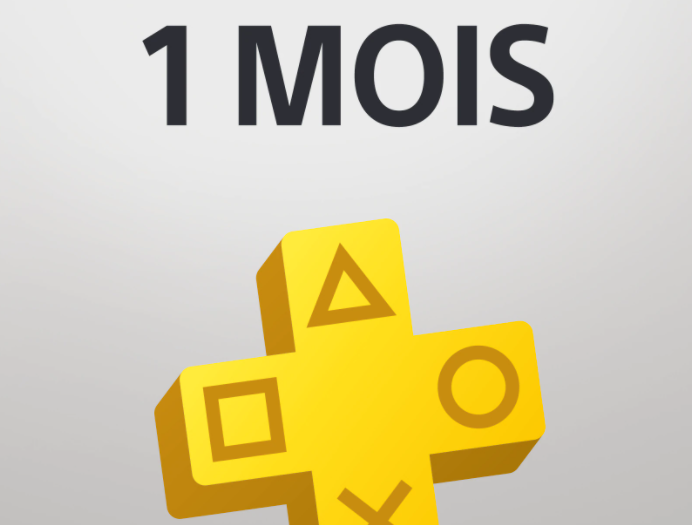 Abonnement d'1 mois PlayStation Plus à 1€