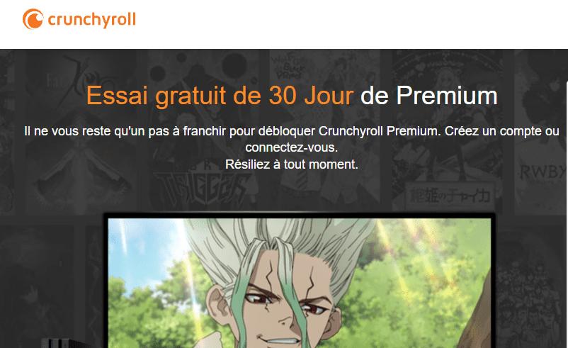 Abonnement VOD Crunchyroll Premium gratuit